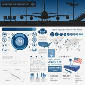 Airport air travel infographic with design elements Infographi