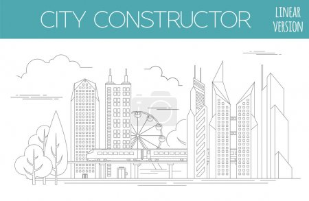 Great city map creator. Outline version. House constructor. Hous
