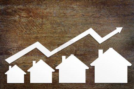 Foto de Concepto de crecimiento de las ventas inmobiliarias - Imagen libre de derechos
