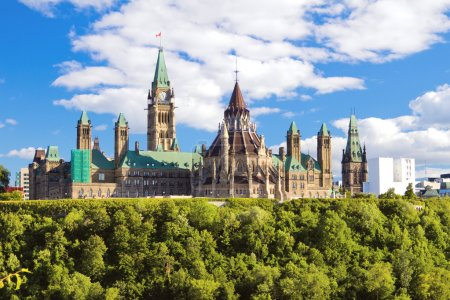 Photo pour Colline du Parlement, Ottawa, Ontario, Canada - image libre de droit