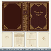 Vintage book layouts and design - covers and pages