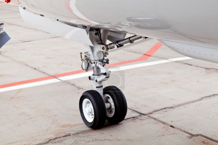 Wheel chassis of airplane