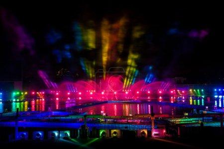 Laser and fireworks show on International festival...