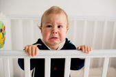 baby crying in the crib