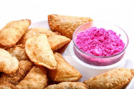 Photo pour Gujia, snack spécial indien pour le festival holi, Inde - image libre de droit