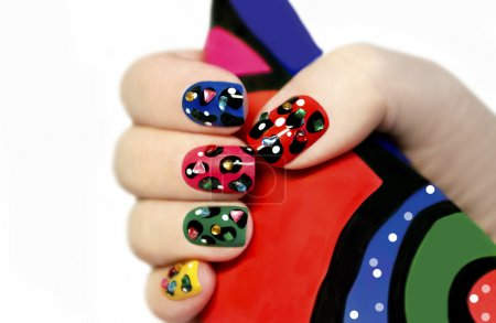 Colorful manicure.