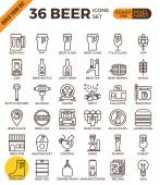 Craft Beer pixel perfect outline icons