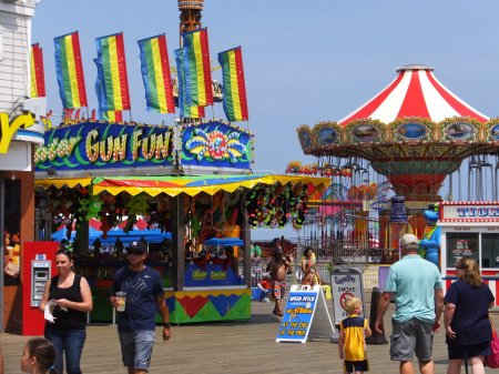 Casino Pier at Seaside Height at Jersey Shore in New Jersey