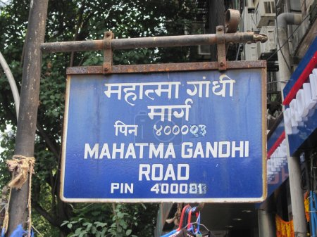 Mahatma Gandhi Road sign in