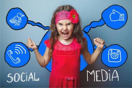 social media netzwerk infografiken set skizze