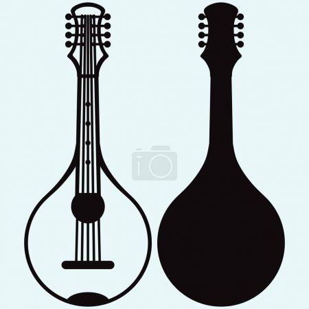 Traditional Ukrainian kobza, musical string instrument