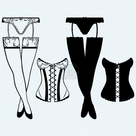 Woman in corset, fashion lingerie