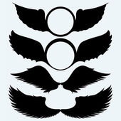 Angel wings and shield with wings