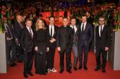 Actors Colin Firth, Laura Linney, Jude Law and director Michael Grandage, Guy Pearce, John Logan