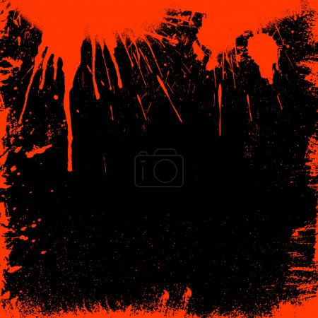 Photo for Grunge style bloody border - ideal for Halloween - Royalty Free Image