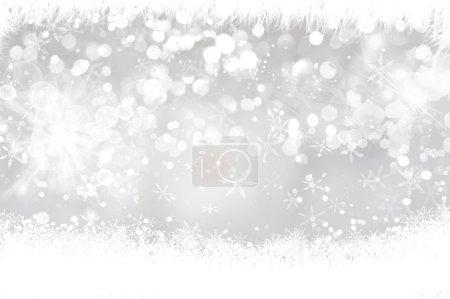 Foto de Diseño de luces bokeh y copos de nieve de Navidad fondo - Imagen libre de derechos