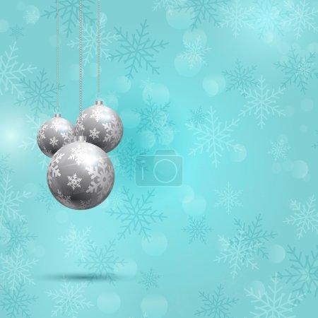 Photo pour Fond décoratif de Noël avec conception de flocons de neige - image libre de droit