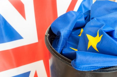 Flag of European Union in Scrap Basket