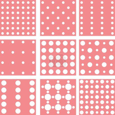 Set of nine backgrounds for design. Vector.