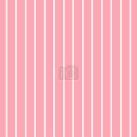 Illustration pour Modèle avec fond rayures. Art vectoriel rose et blanc . - image libre de droit