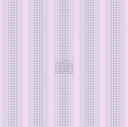 background with stripes and polka dots.