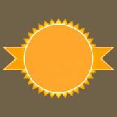 Retro badges in orange tones vector image