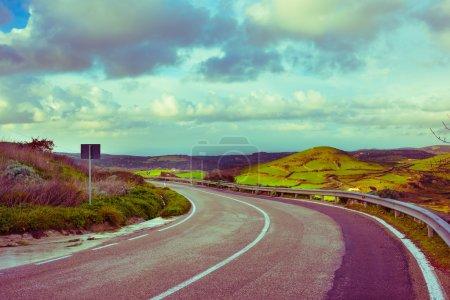 Road in italian countryside