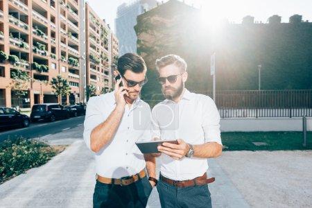 handsome bearded business men
