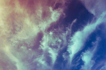 Vintage filtered blue sky