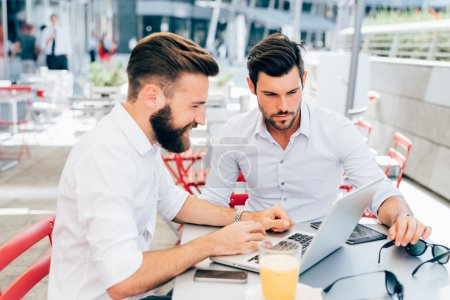 Two young businessmen