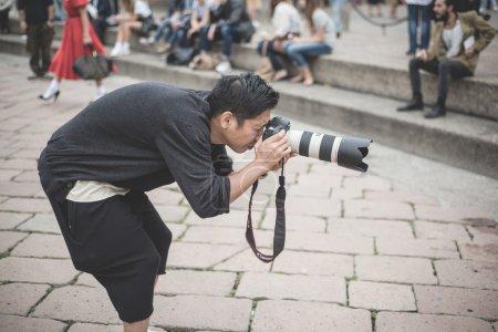 professional photographers during Milan fashion week 2014