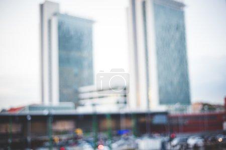 paisaje urbano milano borroso