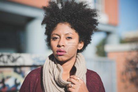 Beautiful black girl in town