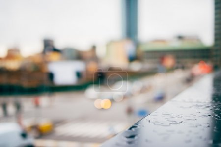 Photo for Blurred city and people urban scene background - Royalty Free Image