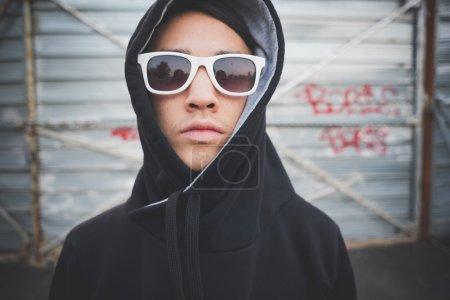 asian hip hop man in town