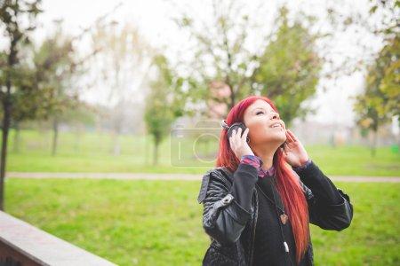 venezuelan woman listening music