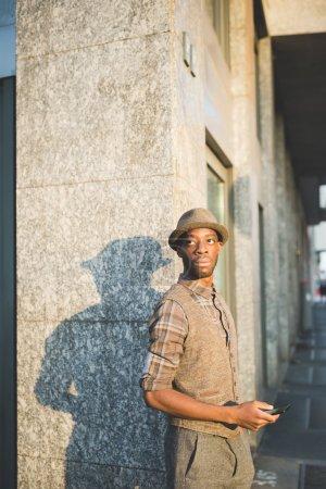 Afro black man posing