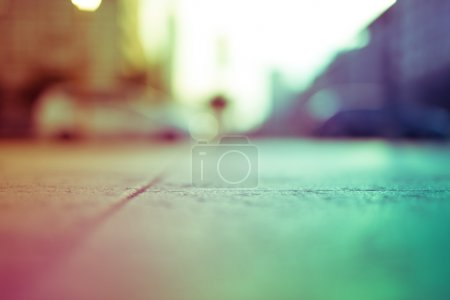 Intentionally blurred colorful filtered view