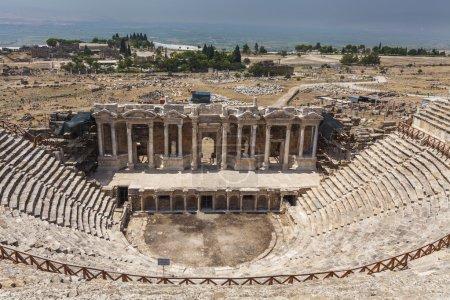 Amphitheater in ancient Hierapolis Pamukkale