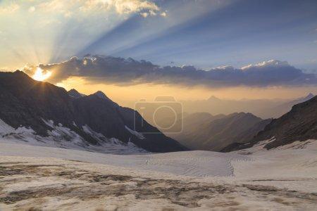 Glacier in the mountains of Georgia