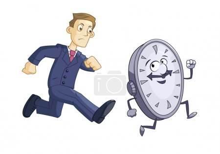 Businessman is chasing time