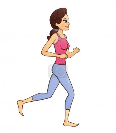 Fitness woman jogging 2