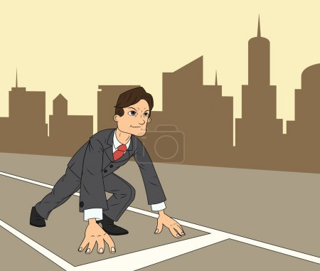 Businessman starting the race to success 3