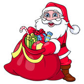 Santa Claus with sack full of gifts 2