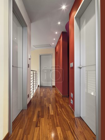 corridor with wood floor