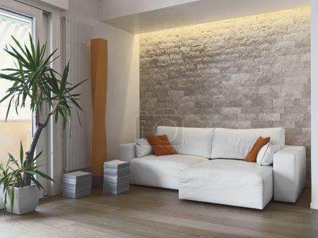 Interior view of a modern livimg room