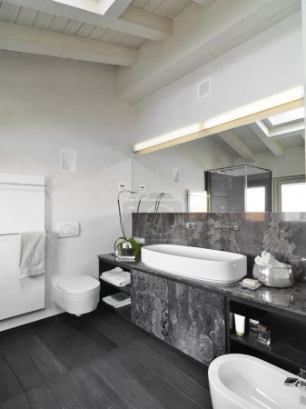 Interior view of a modern bathroom