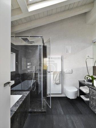 interior view of a modern bathroom