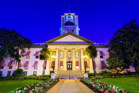 Photo pour Tallahassee, Floride, États-Unis à l'Ancien et Nouveau Capitole . - image libre de droit