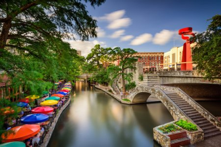 Photo for San Antonio, Texas, USA cityscape at the Riverwalk. - Royalty Free Image